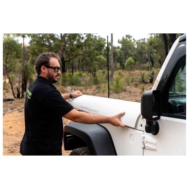 JPJKW2D-RHG Rhinohide Jeep Wrangler JK 2-Door Magnetic Body Armor Panels, Rhinohide Gray 2