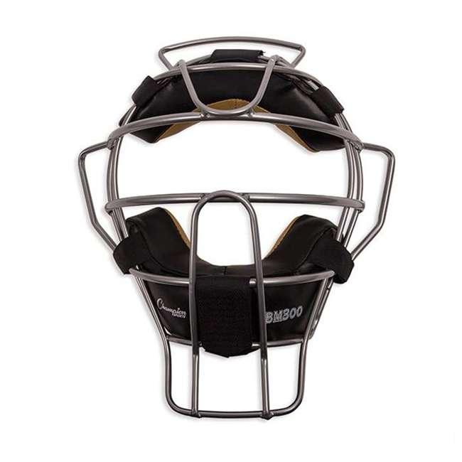 BM300SL Champion Sports BM300SL Ultra Lightweight Umpire Face Mask, Silver