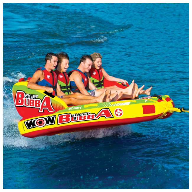 17-1070 World of Watersports Giant Bubba 4 Rider Inflatable Tube 3