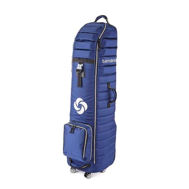 7084NVY Samsonite Lightweight Spinner Wheeling Golf Travel Cover for Bag & Clubs, Navy