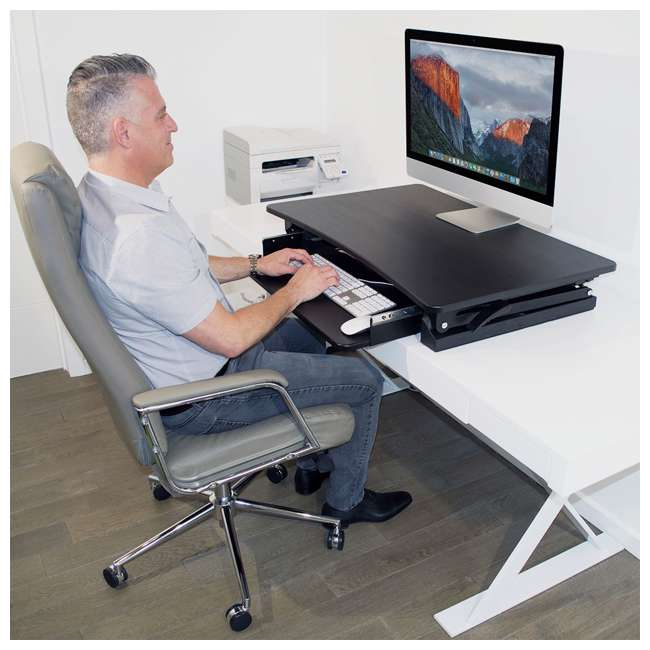 XAFD-M1 xec-FIT Adjustable Height Convertible Sit to Stand Up Desk Laptop Desktop Riser  7