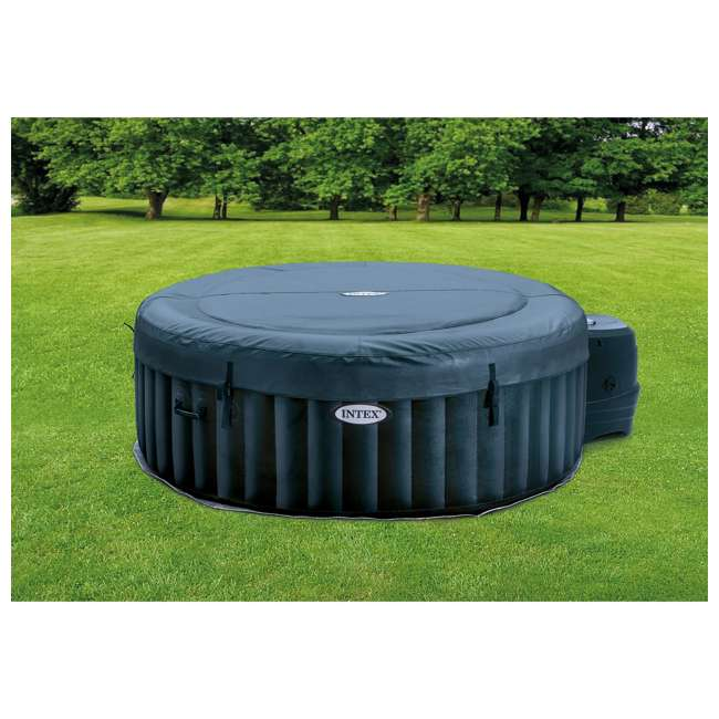 28429E Intex PureSpa Plus 4 Person Portable Inflatable Hot Tub Bubble Jet Spa, Blue 7