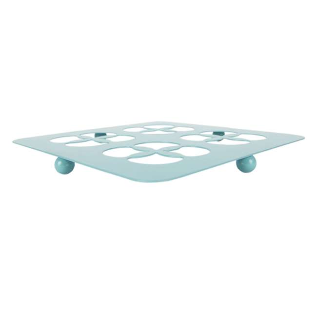 TR47371 Home Basics Protective Steel Trivet For Hot Surfaces, Turquoise 2