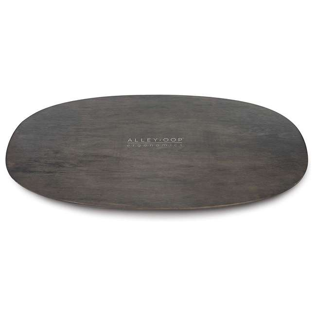 WRF-S-21733-00 JumpSport AlleyOOP Standing Desk Balancing Wood Rocker Board, Gray, Medium