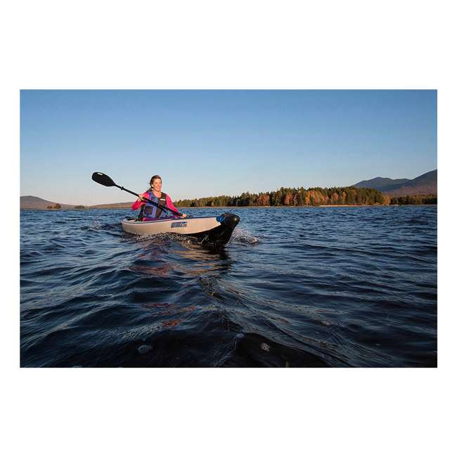 393rlk_p Sea Eagle One Person Inflatable Kayak Package, White & Blue  3