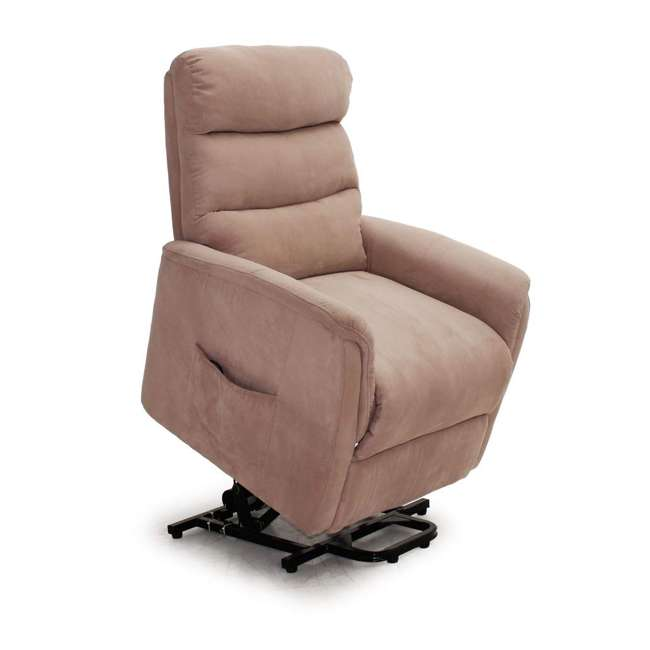 L6115F51-Mocha Lifesmart Ultra Comfort Fitness Lift Chair with Heat, Massage and Remote