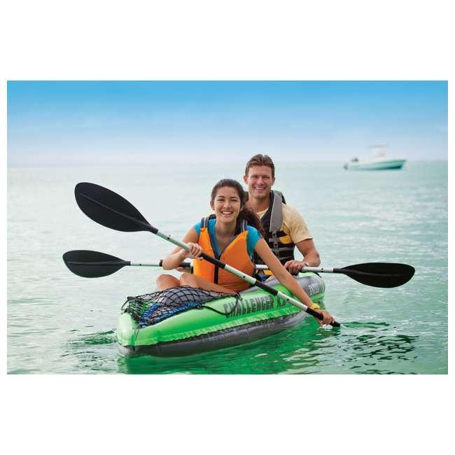 68306EP-U-B Intex Challenger K2 Two Person Inflatable Kayak Kit w/ Oars Pump - (Used) 2