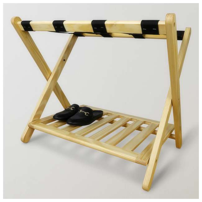 102-20 Casual Home Luggage Rack, Natural 4