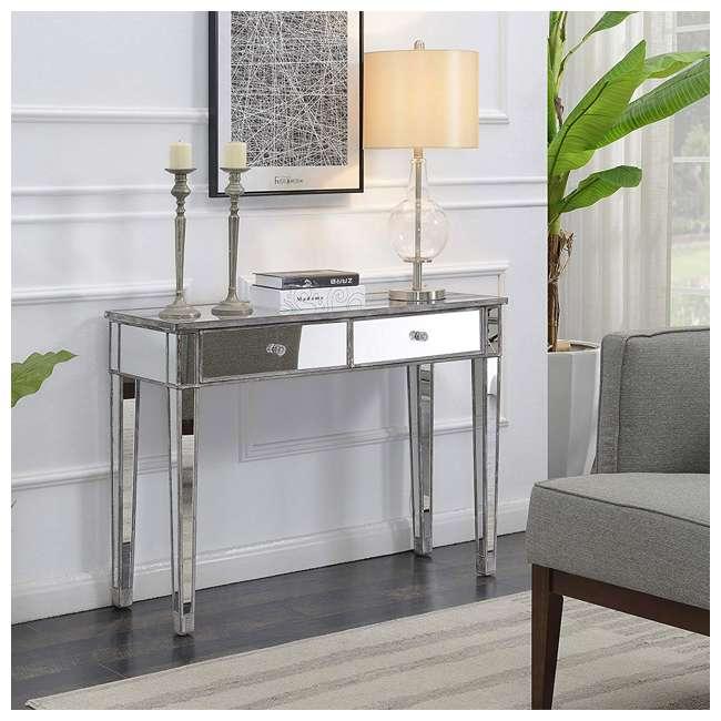 U12-178 Convenience Concepts U12-178 Gold Coast Mirrored Desk Vanity, Weathered Gray 5