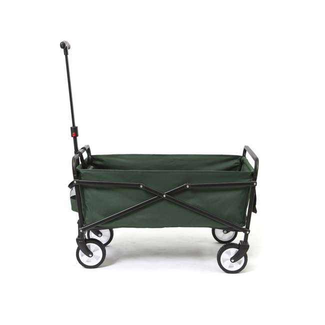 SUW-206-GREEN-U-B Seina Heavy Duty Folding 150 lb Capacity Utility Cart, Green (Used) (2 Pack)