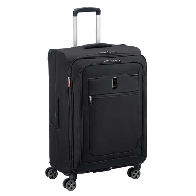 """40229182000 DELSEY Paris 25"""" Expandable Spinner Upright Hyperglide Luggage Suitcase, Black 1"""