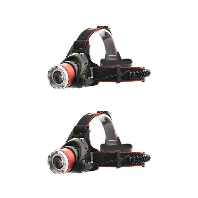MXN00621 Maxxeon 621 WorkStar Micro USB Rechargeable LED Work Headlamp, Red (2 Pack)