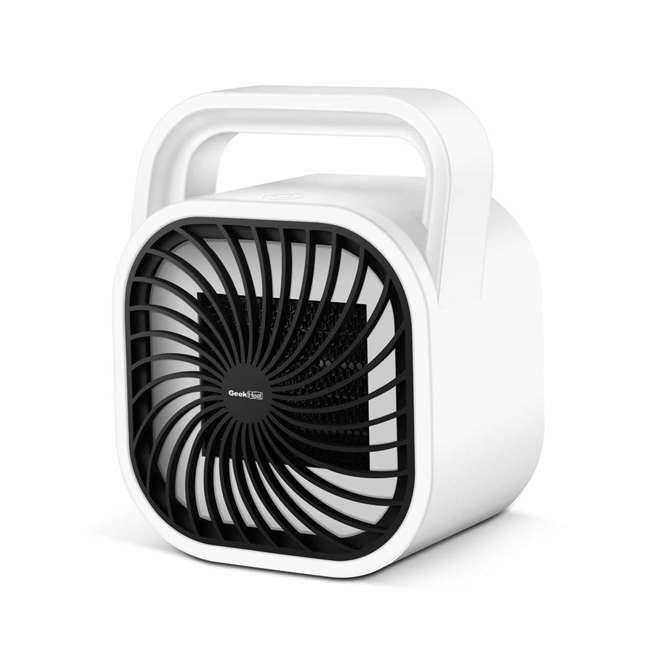 HA31-05E Geek Heat HA31-05E 500 Watt Mini Personal Portable Ceramic Fan Space Heater (2 Pack) 1