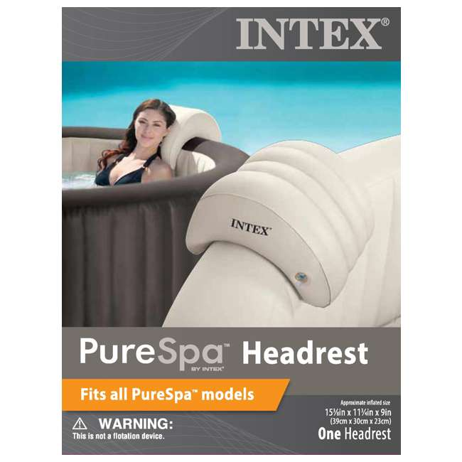 28403E + 28501E Intex Pure Spa Inflatable 4-Person Hot Tub with Headrest 11