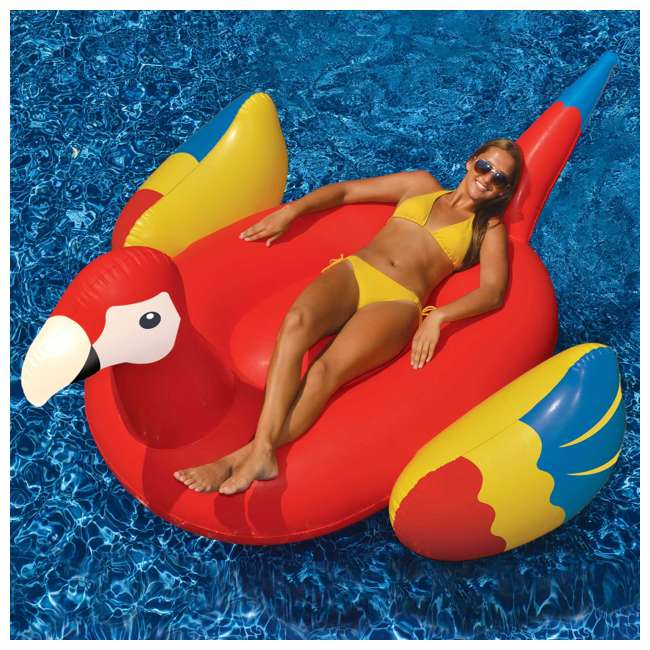 90629 Swimline Giant Inflatable Parrot Float 3
