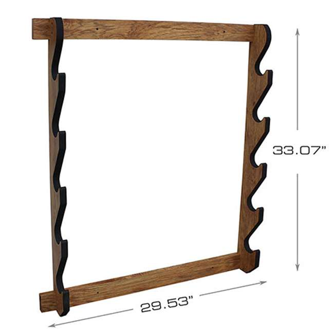 38-4044 Rush Creek Creations 38-4044 5 Rifle and Shotgun Wall Rack, American Cherry 1