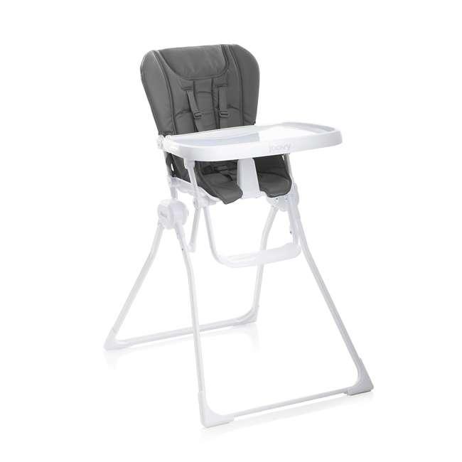 JVY-2069 Joovy Nook Adjustable Swing-Open Tray Folding High Chair, Charcoal