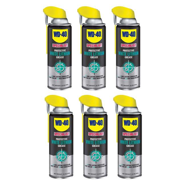 6 x WD-300240 WD-40 Specialist White Lithium Grease Spray (6 Pack)