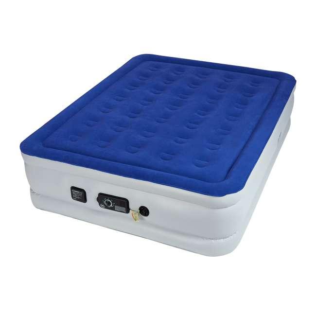 ST840017B-U-A Serta Raised Queen Size Bed Air Mattress with Never Flat Pump, Blue (Open Box)