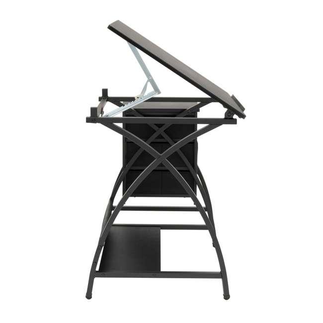 STDN-38015 Studio Designs Venus 2-Piece Craft Adjustable Tabletop w/ Storage & Stool, Black 5