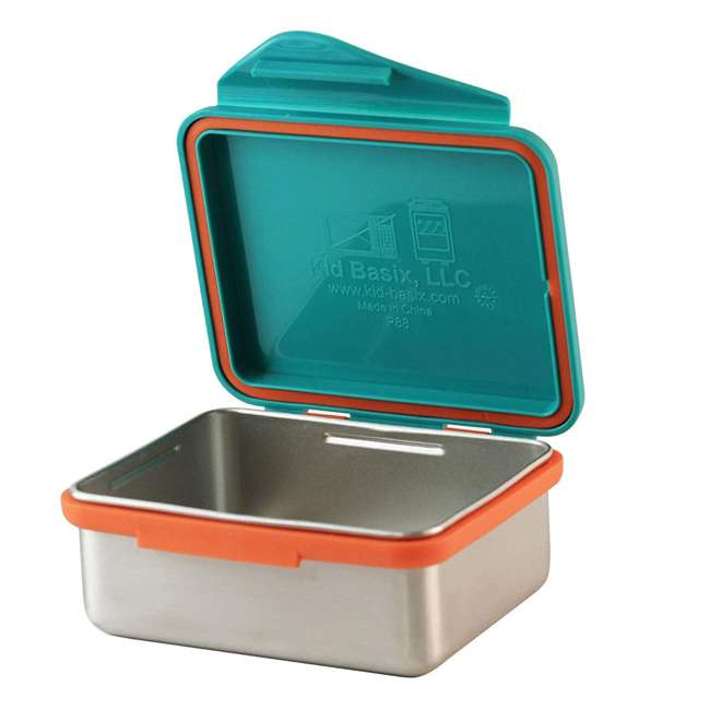 796515002867 + 796515002737 + 796515002836 Kid Basix Safe Snacker 23oz Stainless Steel Lunch Box + 7oz and 13oz Containers 7