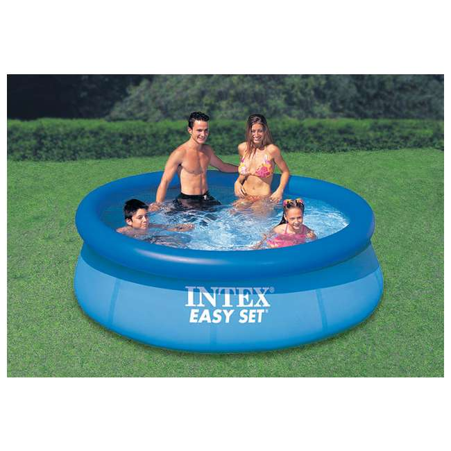 "28110E Intex 8' x 30"" Easy Set Inflatable Above Ground Swimming Pool 28110E (Open Box) 1"