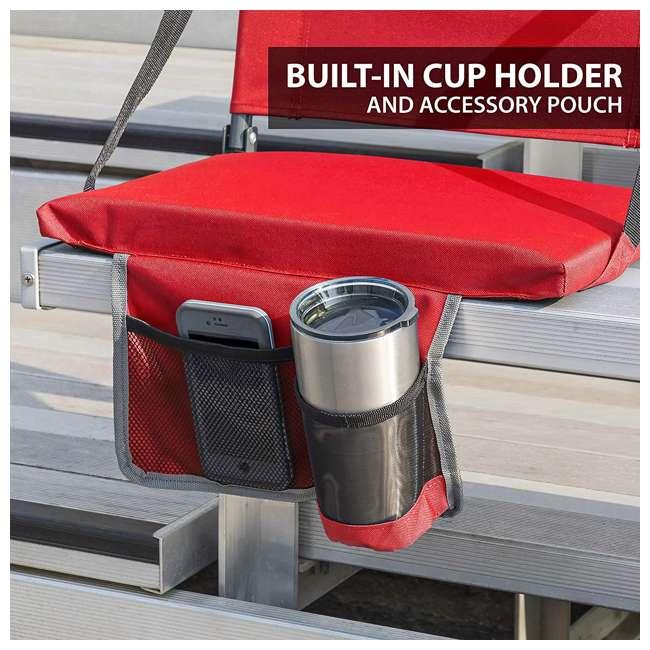 1-1-58813-DS-U-A Eastpoint Sports Adjustable Bleacher Backrest Seat, Red (Open Box) (2 Pack) 3