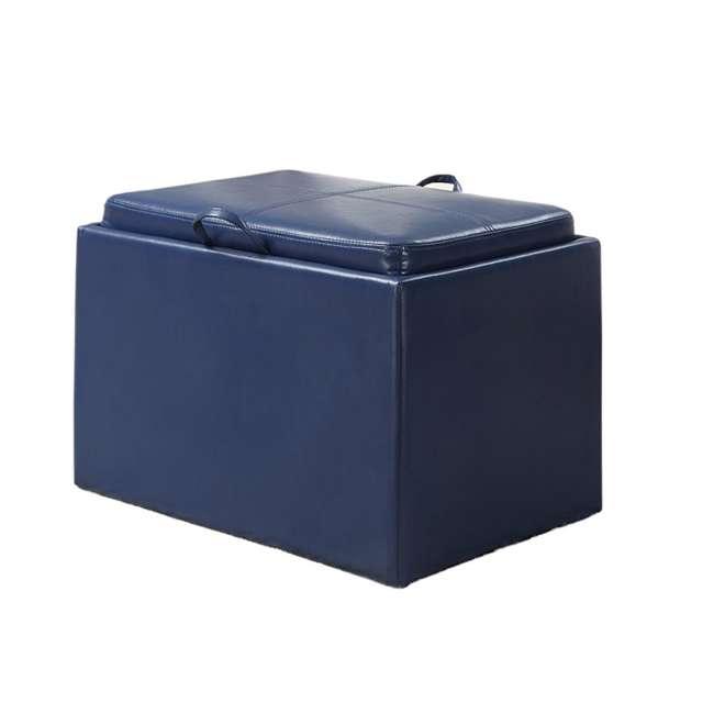 R8-117 Convenience Concepts Designs4Comfort Accent Storage Ottoman - Blue (Open Box) 3