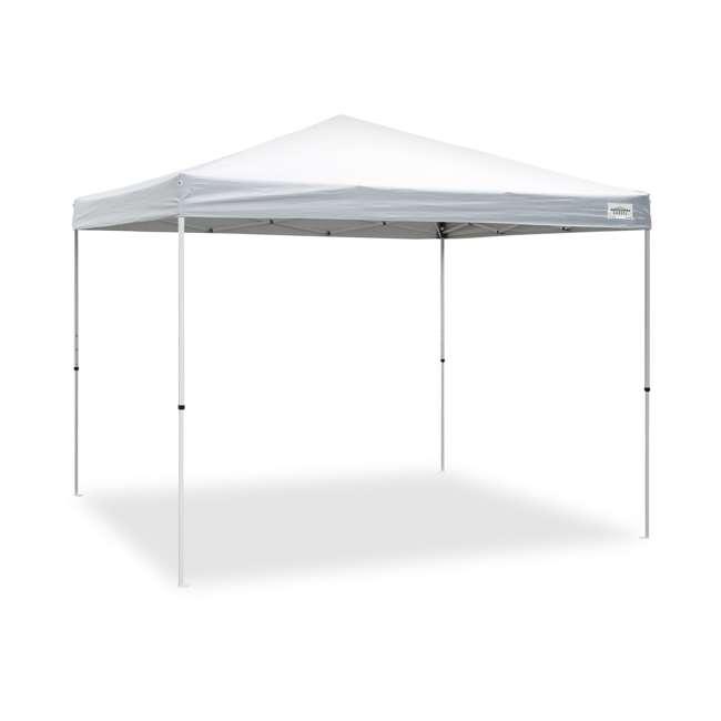 CVAN21007900010-U-A Caravan Canopy Sports V Series 2 Pro 10x10Ft Straight Leg Tent, White (Open Box) 1