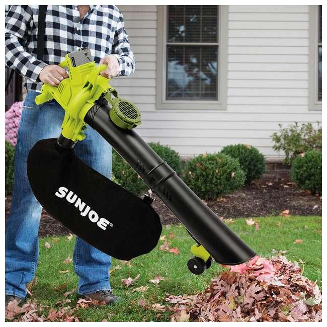 SUJ-IONBV-CT-RB Sun Joe Blower Vacuum Mulcher Gutter Cleaner, Green (Certified Refurbished) 5