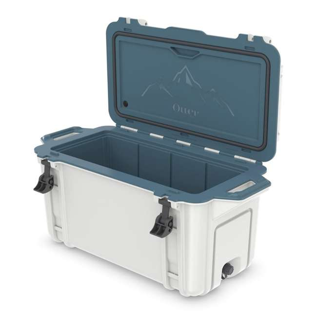 77-54868 Otterbox Venture Heavy Duty Outdoor Camping Fishing Cooler 65-Quarts, White/Blue