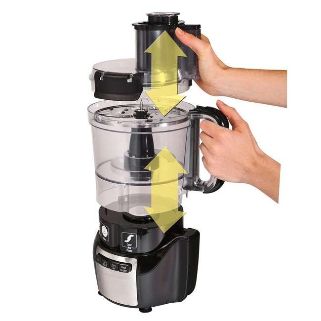 70721 Hamilton Beach 70721 Stack and Snap 10 Cup 450 Watt Countertop Food Processor 3