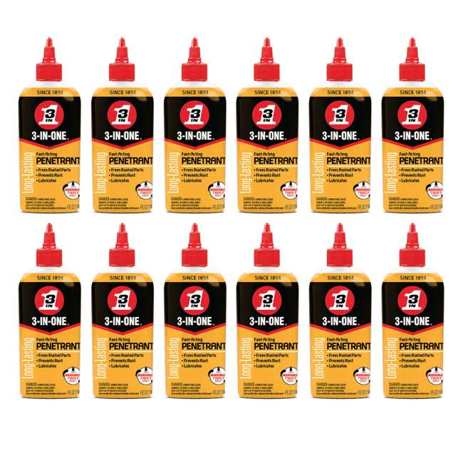 12 x WD-120015 3-IN-ONE 120015 Penetrant to Loosen & Stop Rust (12 Pack)
