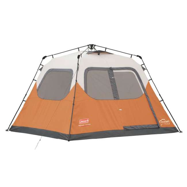 2000017933 + 2A-CM004W Coleman Outdoor 6 Person Camping Tent and Uriah Products 85 Prime Cooler 1