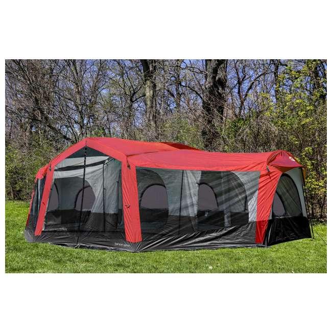 TGT-CARSON-18-B-U-A Tahoe Gear Carson 3 Season 14 Person 25x17.5' Family Cabin Tent, Red (Open Box) 4