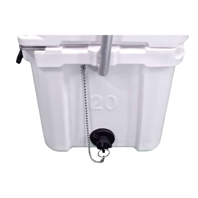 BFDB20-WH Big Frig Denali 20 Quart Insulated Cooler with Cutting Board and Basket, White 3