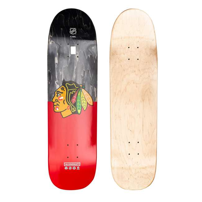 XCHIC2019 Aluminati Wooden NHL Chicago Blackhawks Skateboard Deck with Predrilled Holes