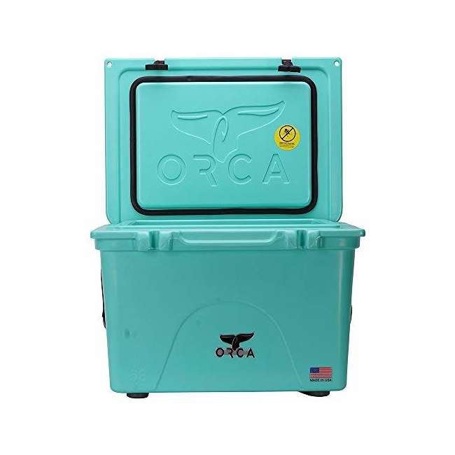 ORCSF058 Orca ORCSF058 58 Quart 72 Can Roto Molded Insulated Ice Cooler, Seafoam Blue 2