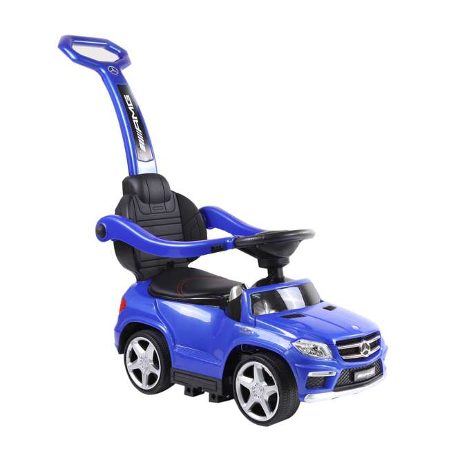 4 in 1 Mercedes Push Car White Best Ride On Cars Baby 4 in 1 Mercedes Push Vehicle, Stroller, & Rocker, Blue