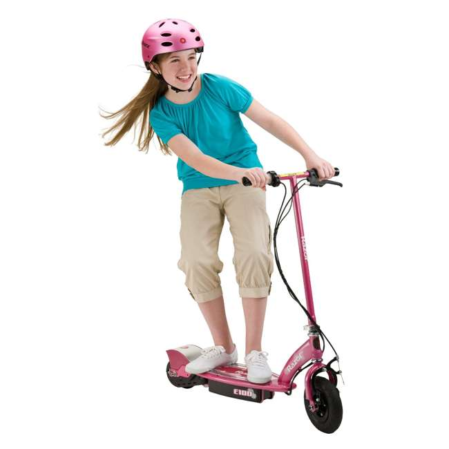 13111263 Razor E100 Electric Motorized Rechargeable Kids Scooter, Sweet Pea (2 Pack) 2