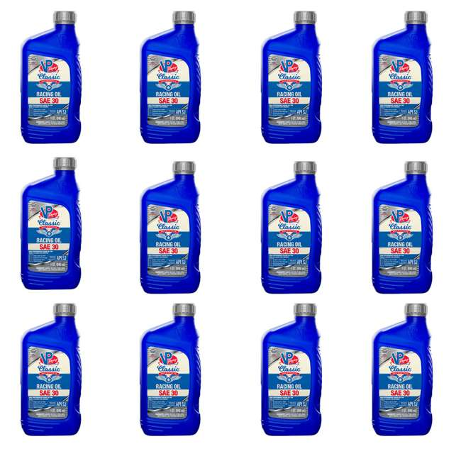 12 x 2681 VP Racing Non Synthetic High Performance SAE 30 ZDDP Rich Racing Oil (12 Pack)