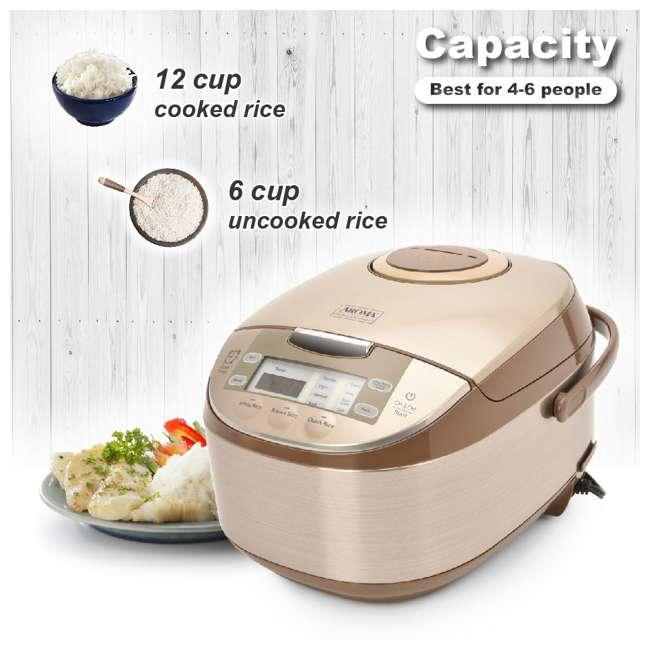 ARC-6106-U-A Aroma Professional 12 Cup Rice & Multi Cooker & Steamer w/ Utensils (Open Box) 5