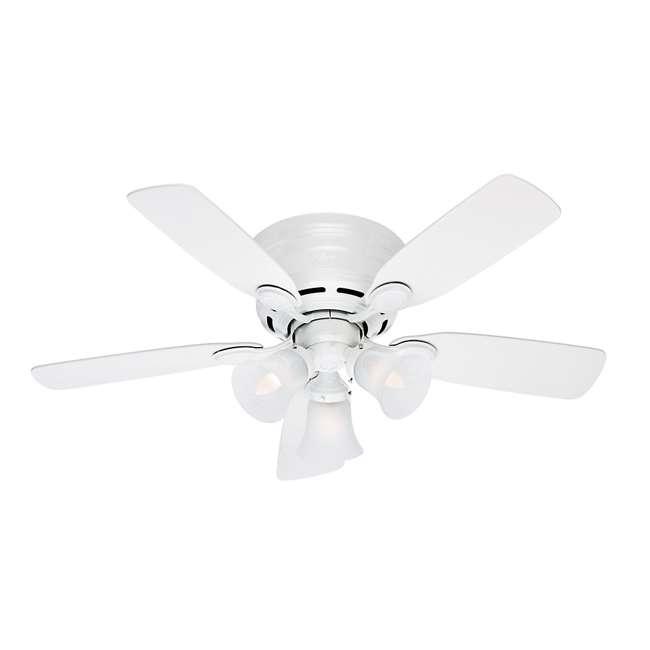 51044 Hunter 51044 Low Profile Plus 42 Inch 5 Blade Quiet Ceiling Fan w/ Mounting Kit