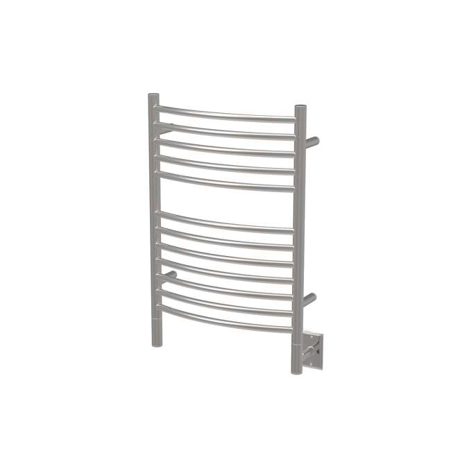 RWHL-CB Amba Radiant Large Hardwired Curved Towel Warmer, Brushed.