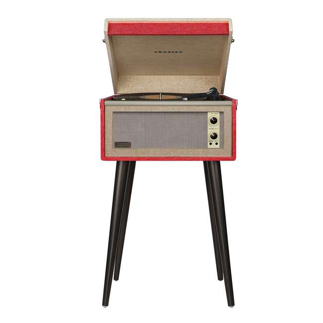 CR6233A-RE Crosley Dansette Bermuda Freestanding Portable Turntable, Red 1