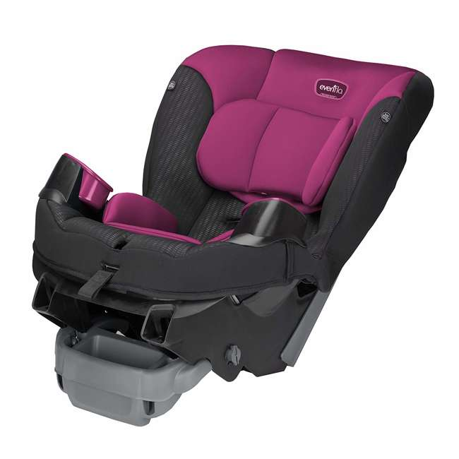 34812024 Evenflo Sonus 2 in 1 Convertible Travel Infant Baby Toddler Car Seat, Berry Beat 4