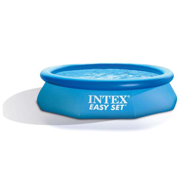"28120EH-U-B Intex 10' x 30"" Easy Set Above Ground Inflatable Swimming Pool (Used) (2 Pack)"