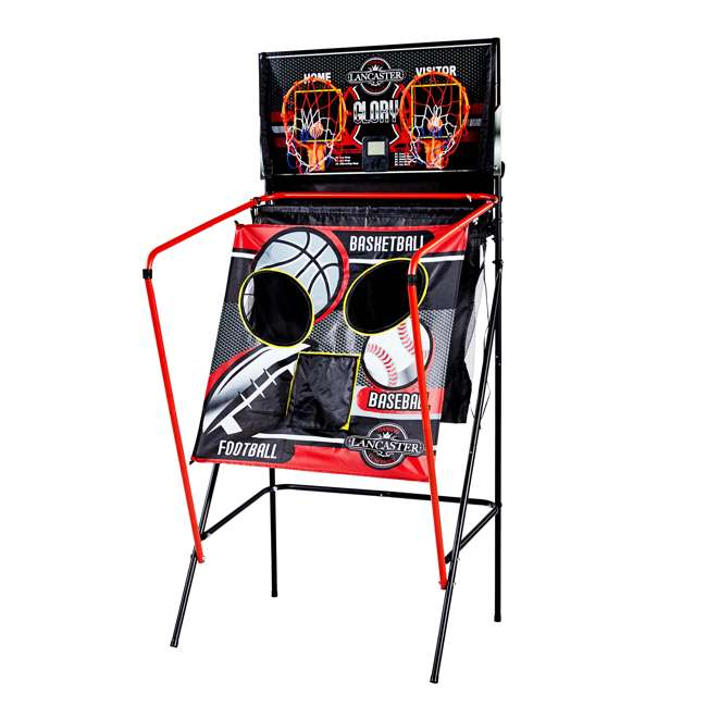 BBG019_018P-U-A Lancaster 2 Player Scoreboard Arcade 3 in 1 Basketball Sports Game (Open Box) 2