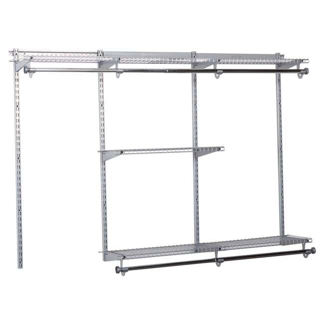 2060335-U-A Rubbermaid Configurations Custom Closet Organizer 3'-6' Kit Titanium (Open Box) 1