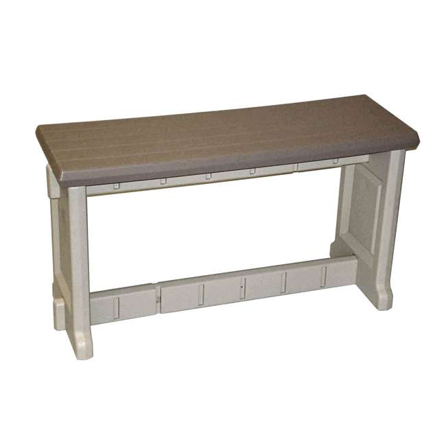 Leisure Accents Portabello Beige Outdoor Patio Seat Bench 36 Inch X 20 Inch Lapb36 P
